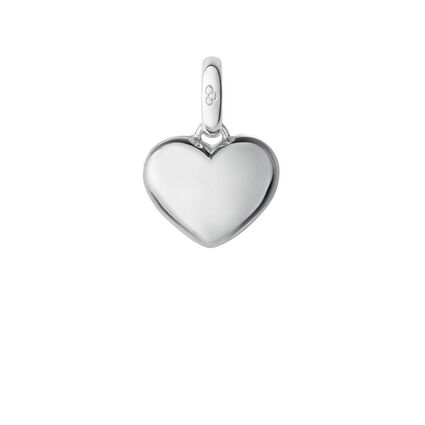 Sterling Silver Slim Heart Charm, , hires