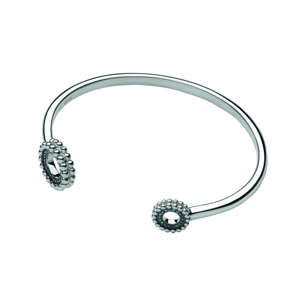 Effervescence Sterling Silver Blue Diamond Cuff, , hires
