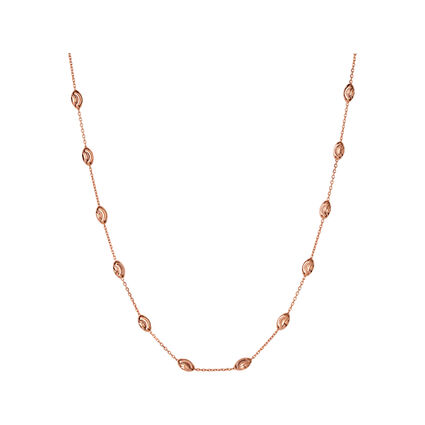 Essentials 18kt Rose Gold Vermeil Beaded Chain Necklace 45cm, , hires