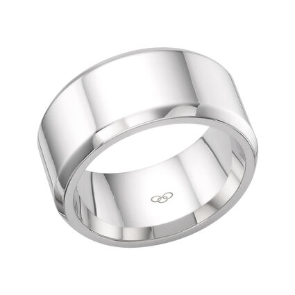 Essentials Sterling Silver Mens Ring, , hires