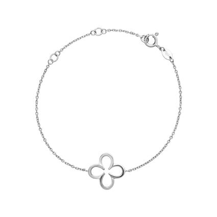 Ascot Sterling Silver Lucky Clover and Horseshoe Bracelet, , hires