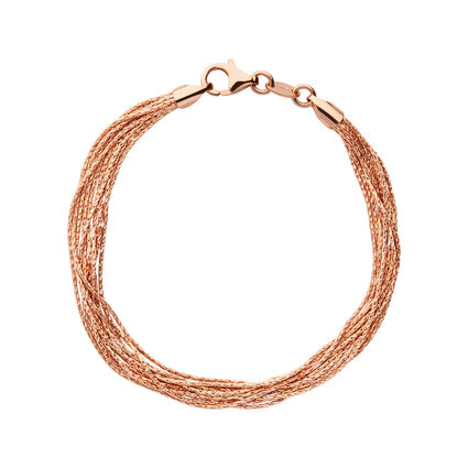 Essentials 18kt Rose Gold Vermeil Silk 10 Row Bracelet, , hires