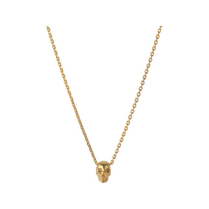 18kt Yellow Gold Vermeil Mini Skull Necklace, , hires
