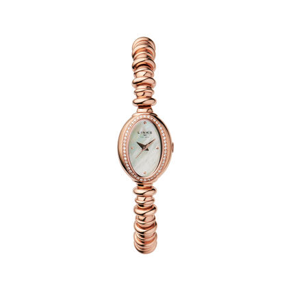 Sweetheart Rose Gold & White Topaz Watch, , hires