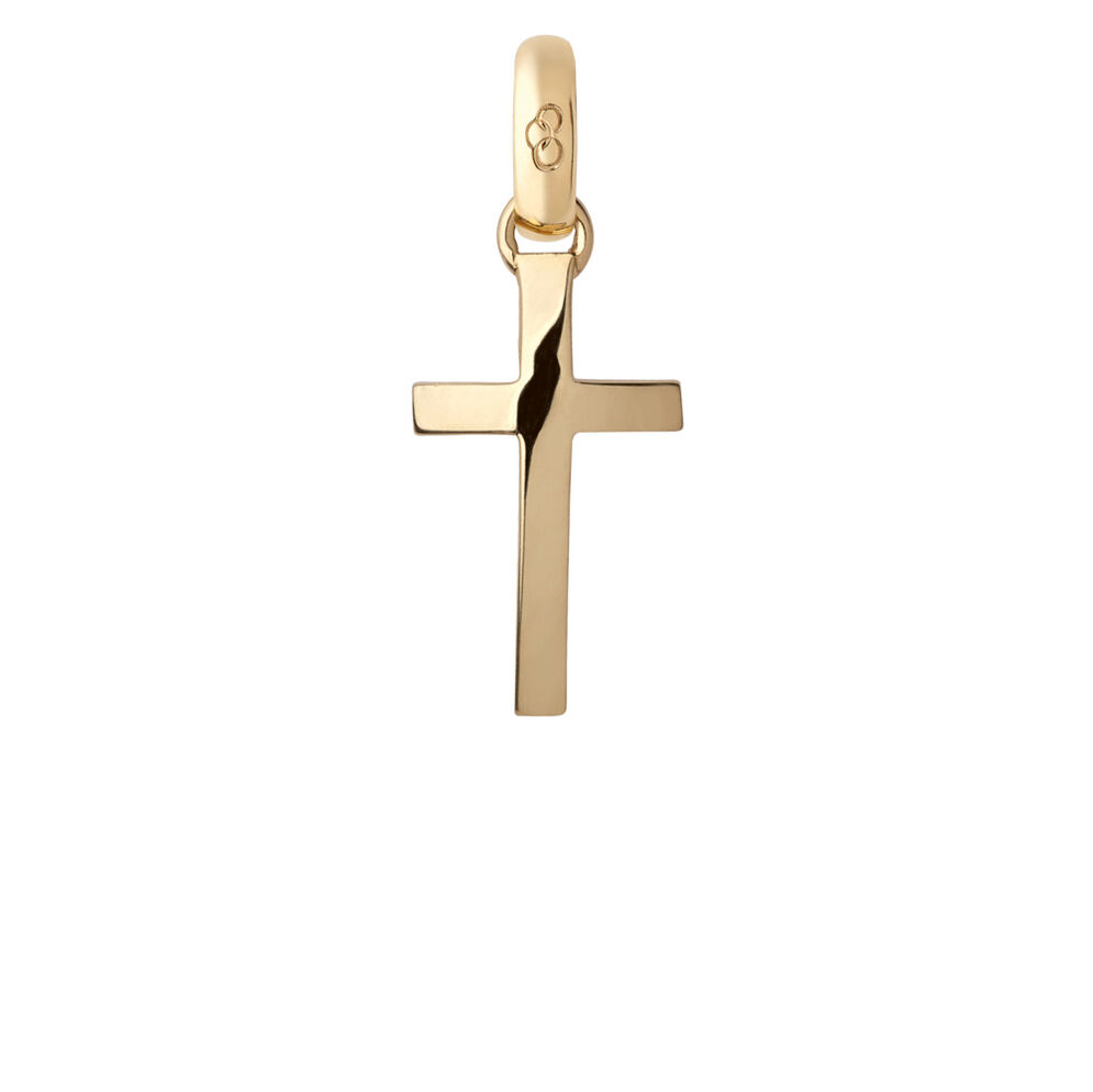 18kt Yellow Gold Cross Charm, , hires