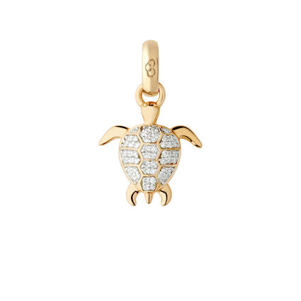 18kt Yellow Gold & Diamond Turtle Charm, , hires