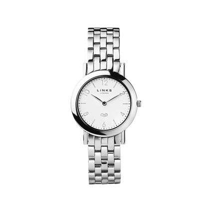 Noble Slim Stainless Steel Silver Bracelet Watch, , hires