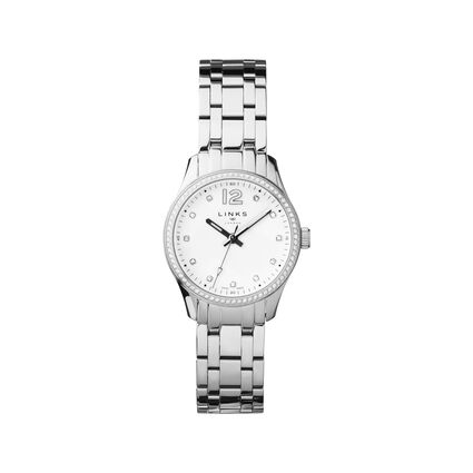 Greenwich Noon Womens Stainless Steel & Crystal Watch, , hires