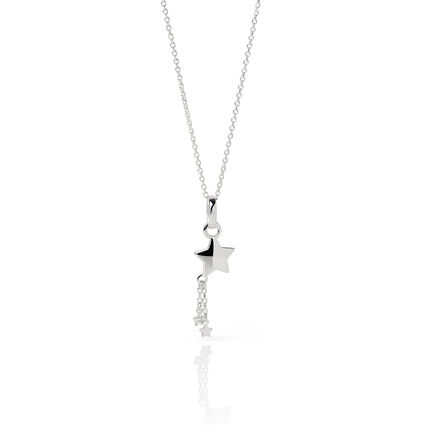Essentials Sterling Silver 45cm Chain & Shooting Star Charm, , hires