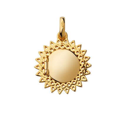 18kt Yellow Gold Vermeil Mother's Day Sun Locket Pendant, , hires