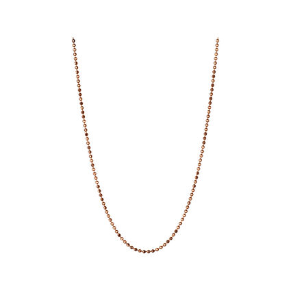Essentials 18kt Rose Gold 1mm Ball Chain 45cm, , hires