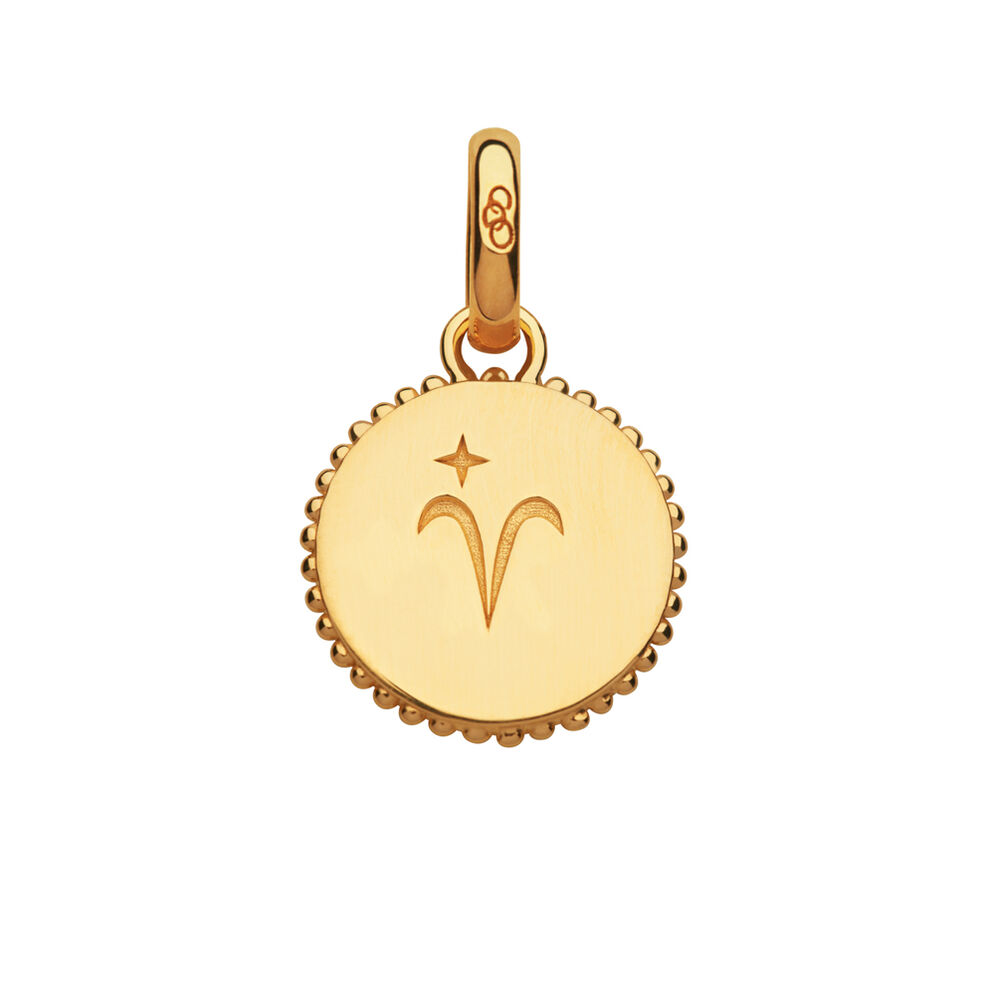 18kt Yellow Gold Vermeil Aries Zodiac Charm, , hires