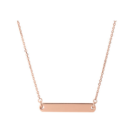 Narrative 18kt Rose Gold Vermeil Short Bar Necklace, , hires