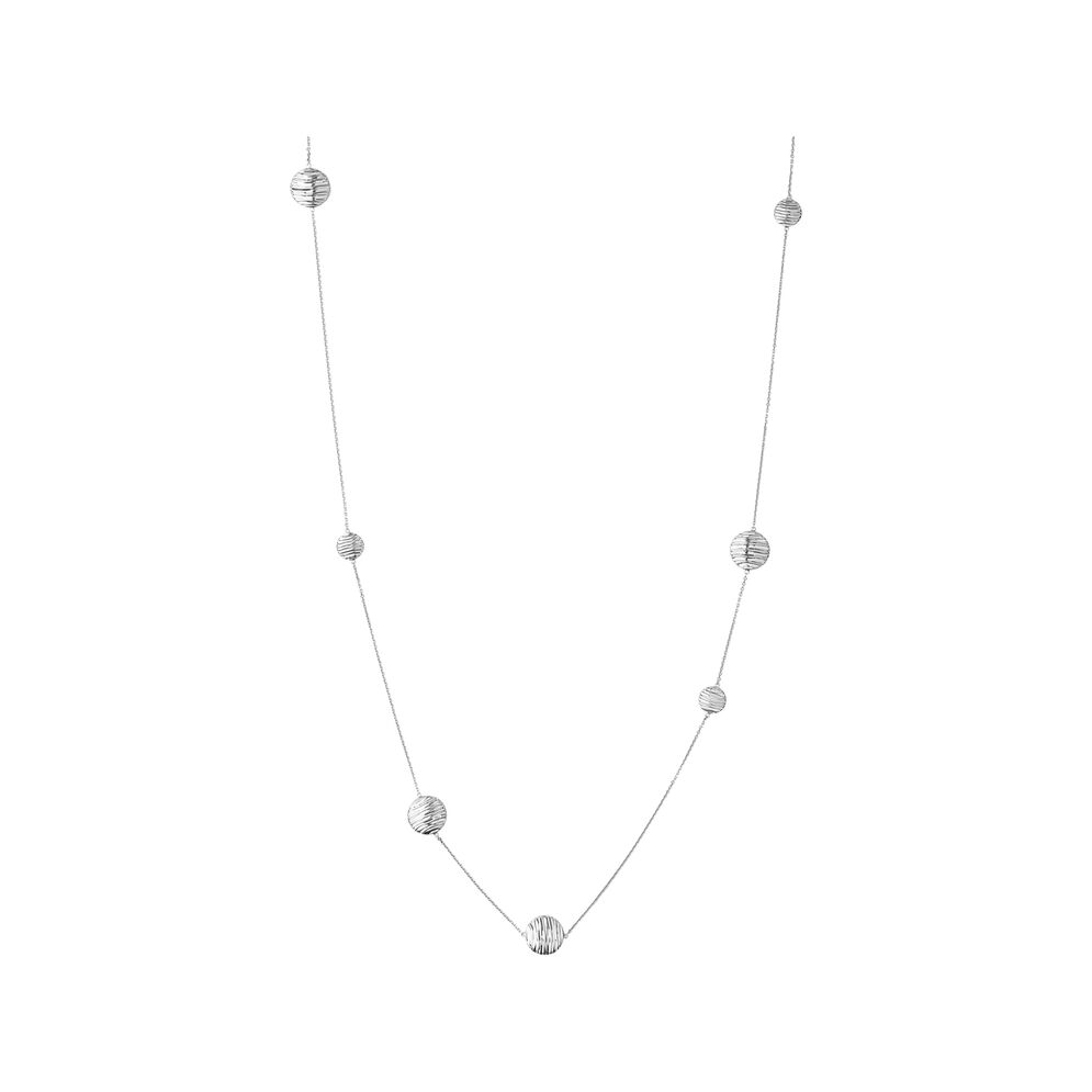 Thames Sterling Silver Long Station Necklace, , hires