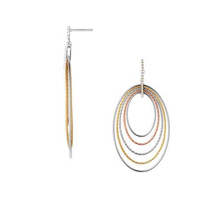 Aurora Mixed Metal Loop Chandelier Earrings, , hires