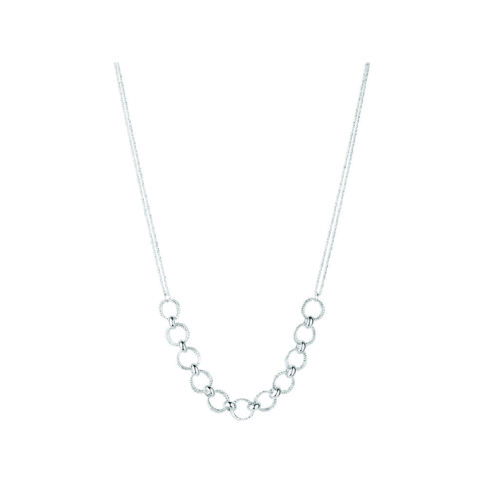 Aurora Sterling Silver Multi Link Necklace, , hires