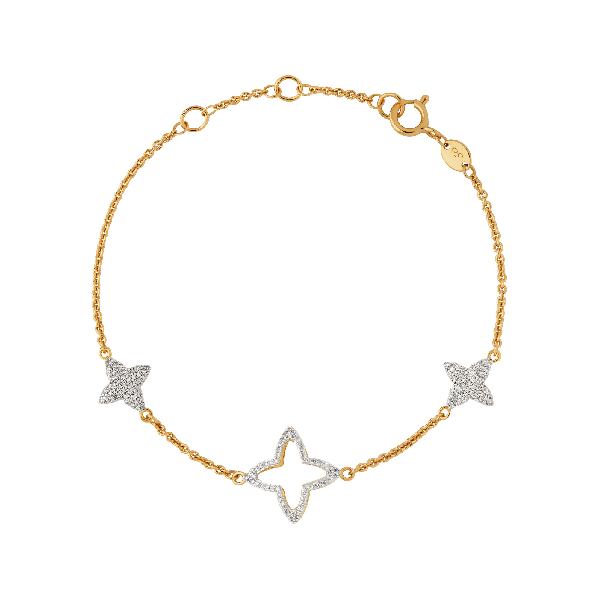 crislu stone multi rose in gold anklet bracelet finished products