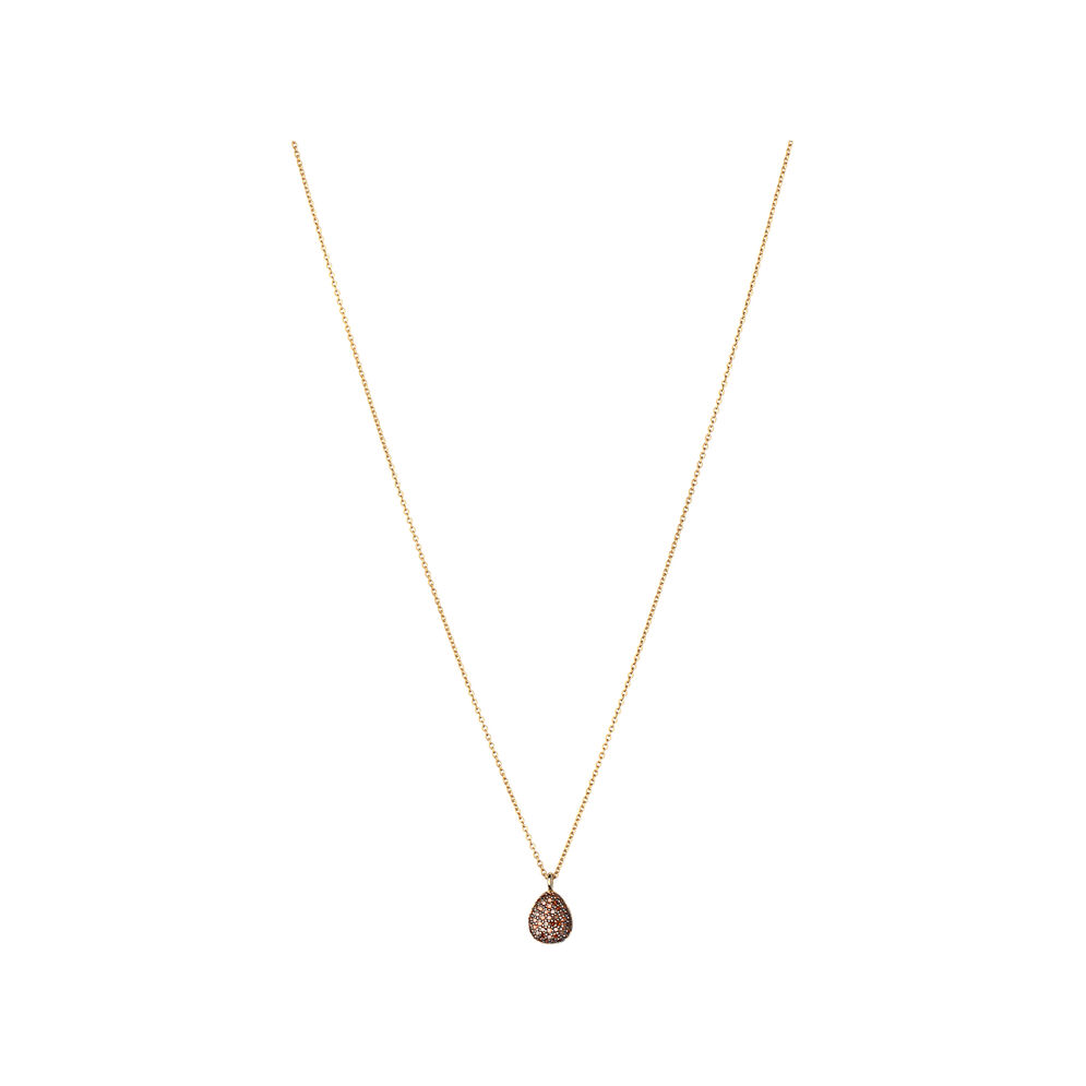 Hope 18ct Yellow Gold & Cognac Diamond Necklace, , hires