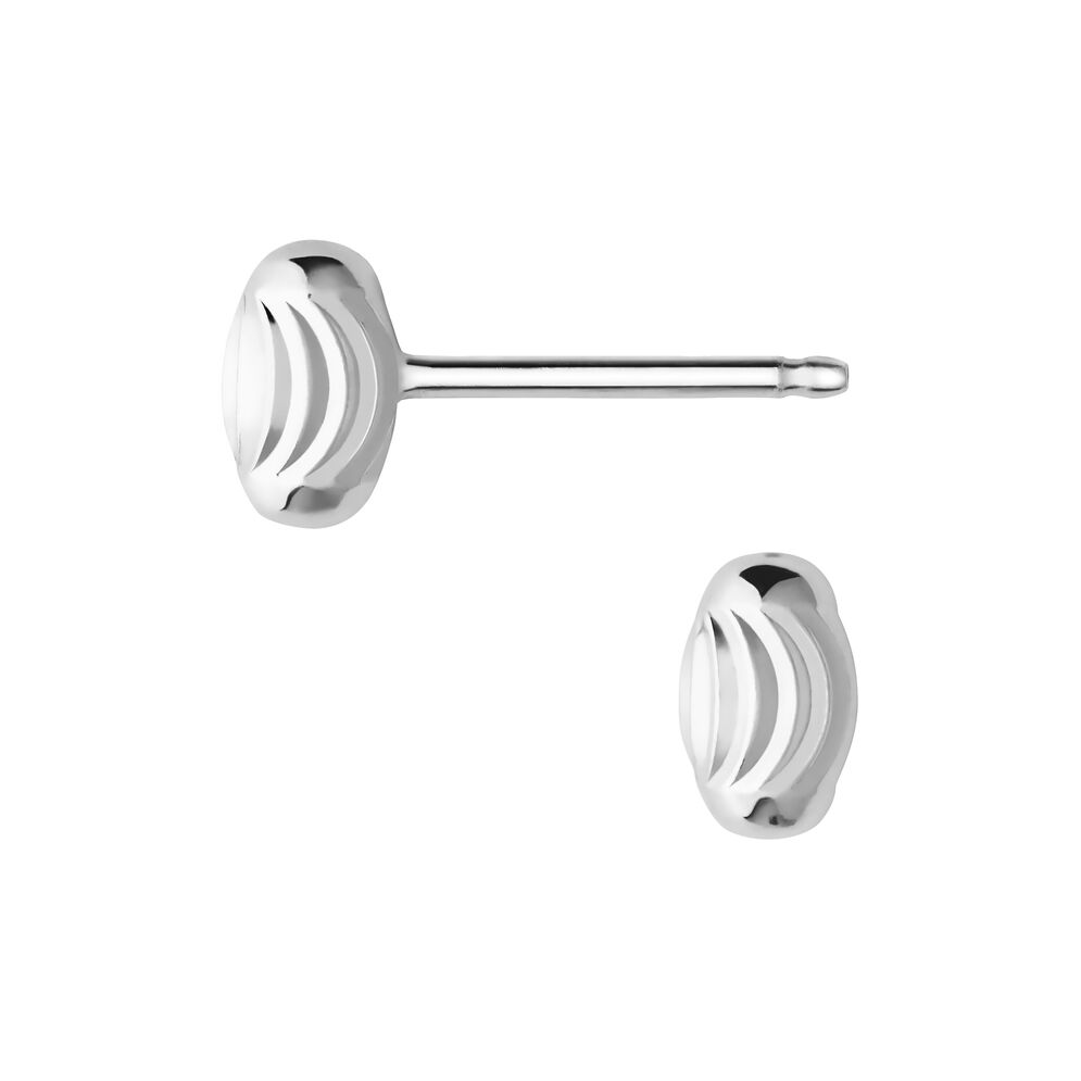 Beaded stud earrings SS, , hires