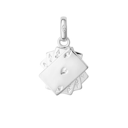 Sterling Silver Poker Cards Charm, , hires