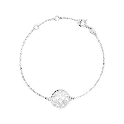 Timeless Sterling Silver & Diamond Bracelet, , hires