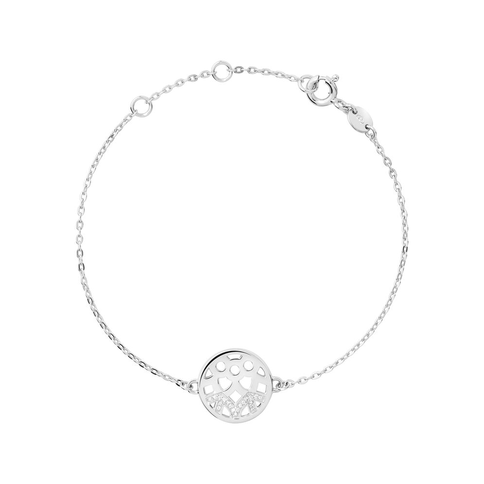 Timeless Sterling Silver & Diamond Bracelet, , hires