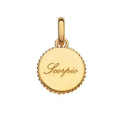 18kt Yellow Gold Vermeil Scorpio Zodiac Charm, , hires
