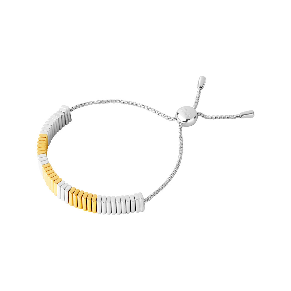 True Friendship Sterling Silver & 18kt Yellow Gold Vermeil Bracelet, , hires