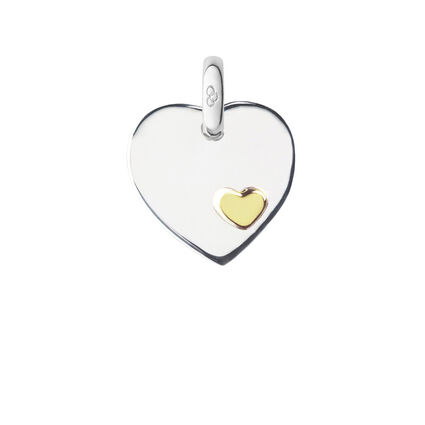 Heart Disc Charm, , hires
