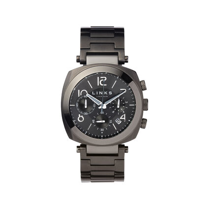 Brompton Black Dial Chronograph Watch, , hires