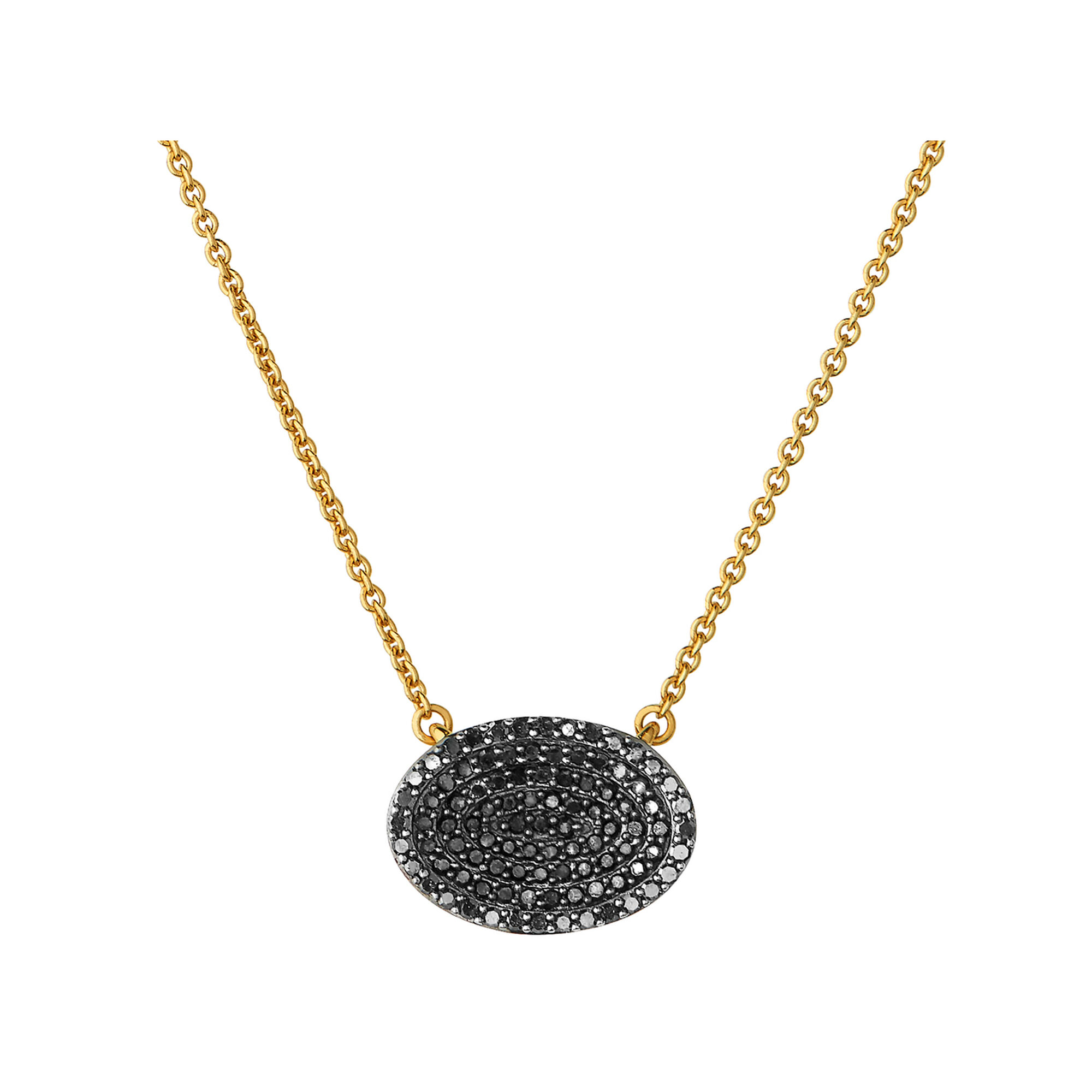 lyst bar jewelry necklace diane rose gold pendant in kordas black embellished diamond product gallery