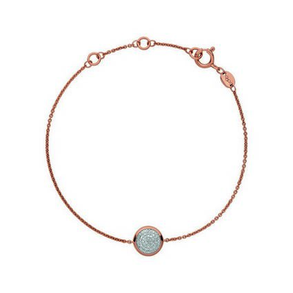 Diamond Essentials 18kt Rose Gold Vermeil & Pave Round Bracelet, , hires