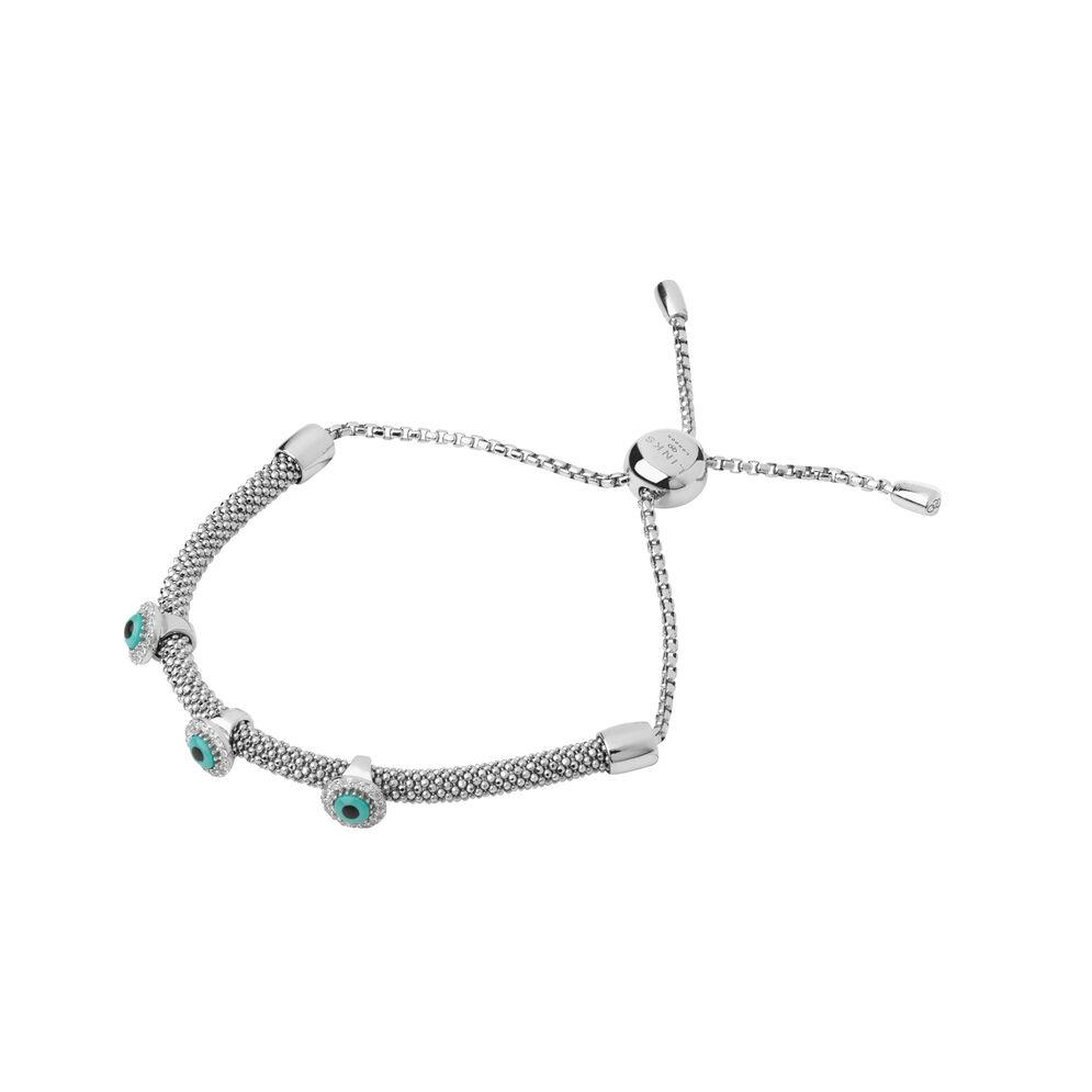 Starlight Evil Eye Sterling Silver & Sapphire Bracelet, , hires