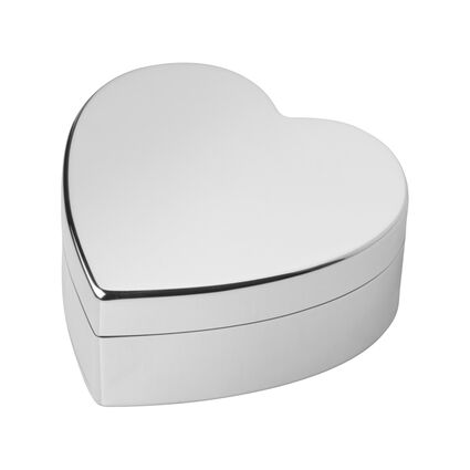 Sterling Silver Heart Trinket Box, , hires