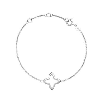 Splendour Sterling Silver Open Four-Point Star Bracelet, , hires