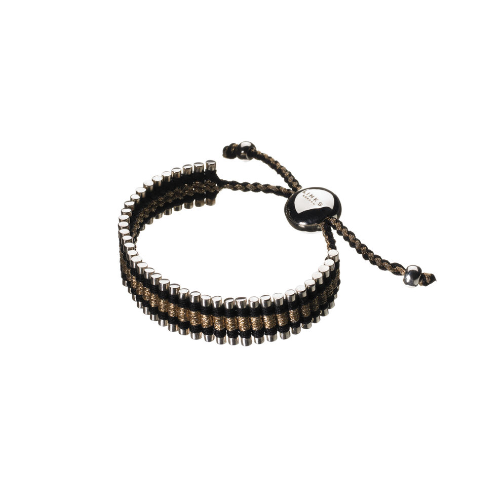 Black & Gold Friendship Bracelet, , hires