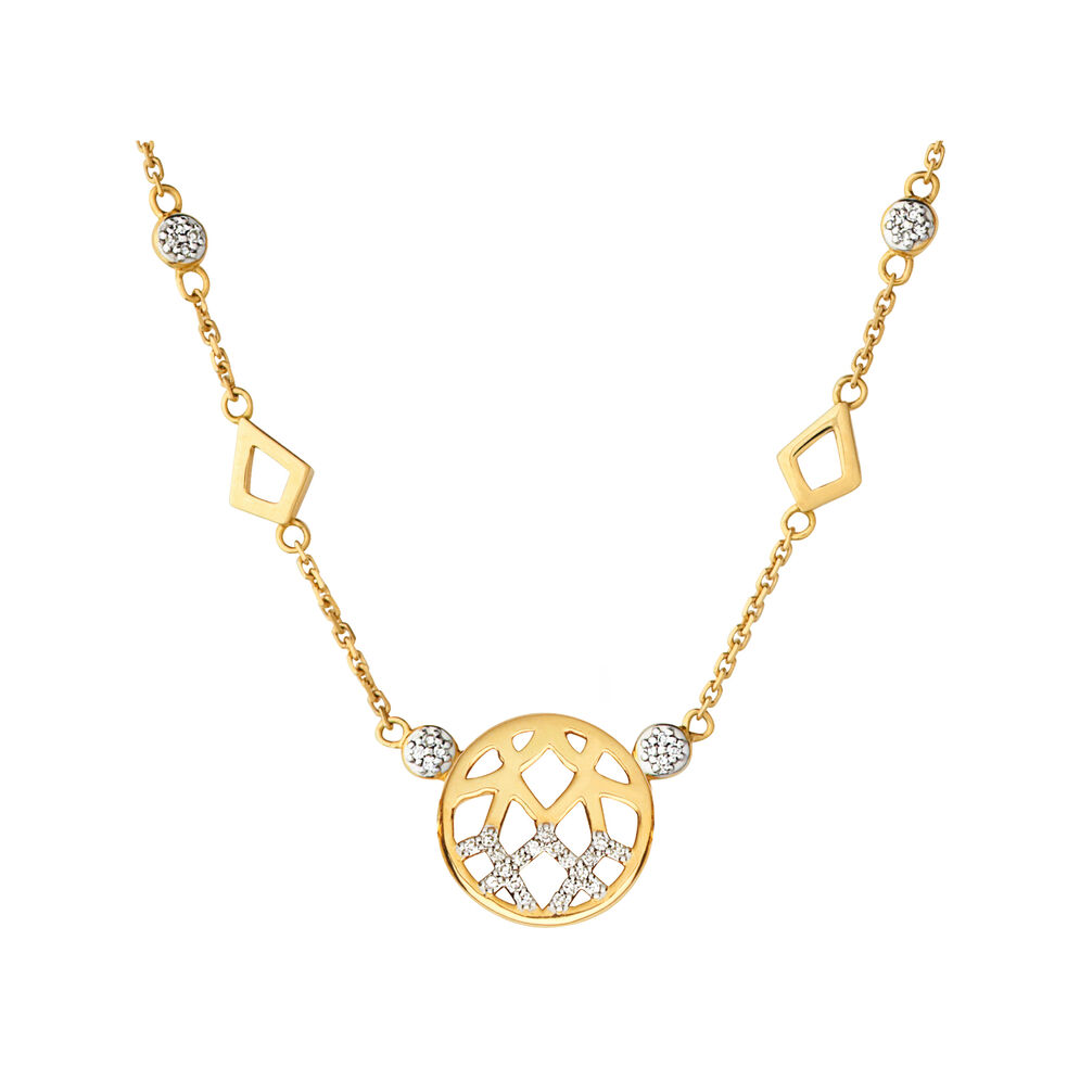 Timeless 18ct Gold & Diamond Station Necklace, , hires