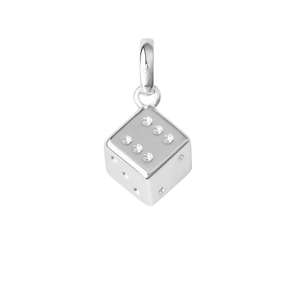 Sterling Silver Lucky Dice Charm, , hires