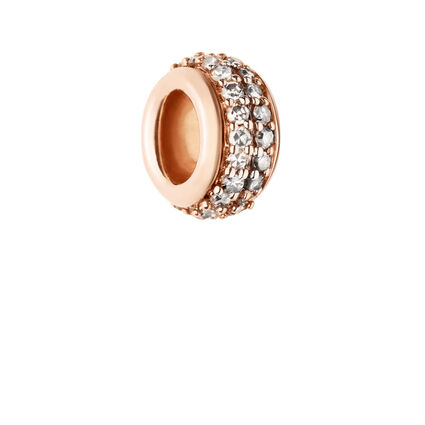 Sweetie Rose Gold Vermeil & Champagne Diamond Pave Rondelle Bead, , hires