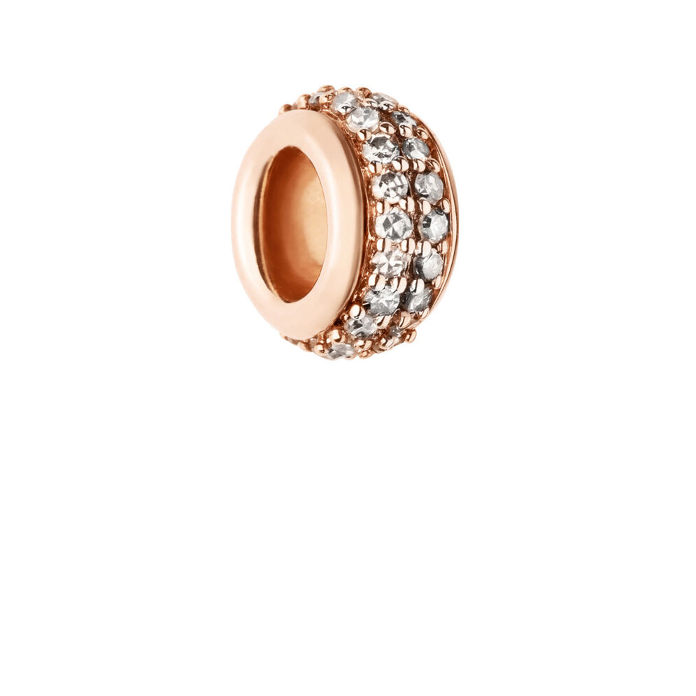 Sweetie Rose Gold Amp Champagne Diamond Pave Bead Links Of