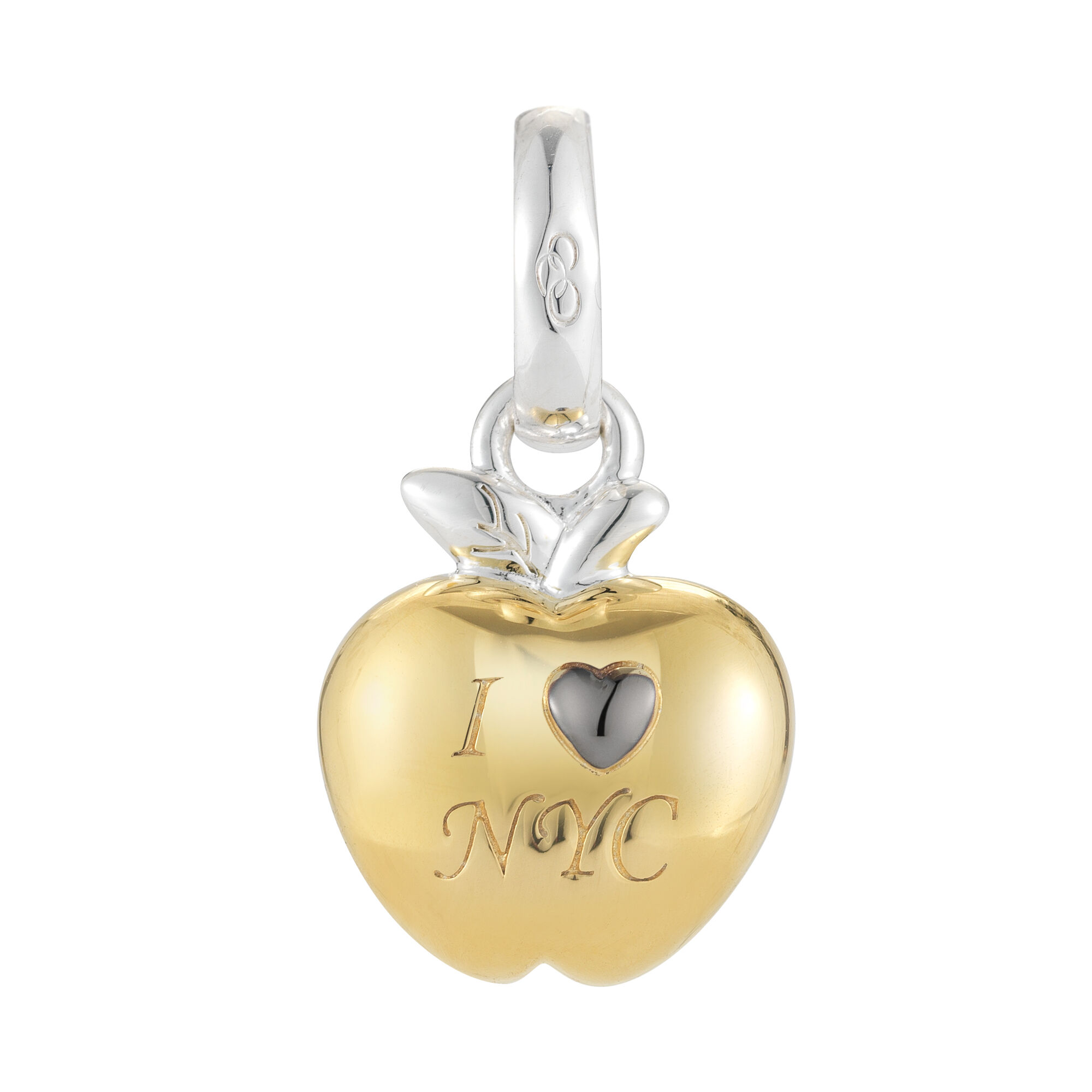 18k Yellow Gold I Love New York Charm Hires