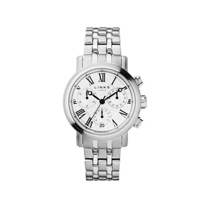 Richmond Womens Stainless Steel Bracelet Chronograph Watch, , hires