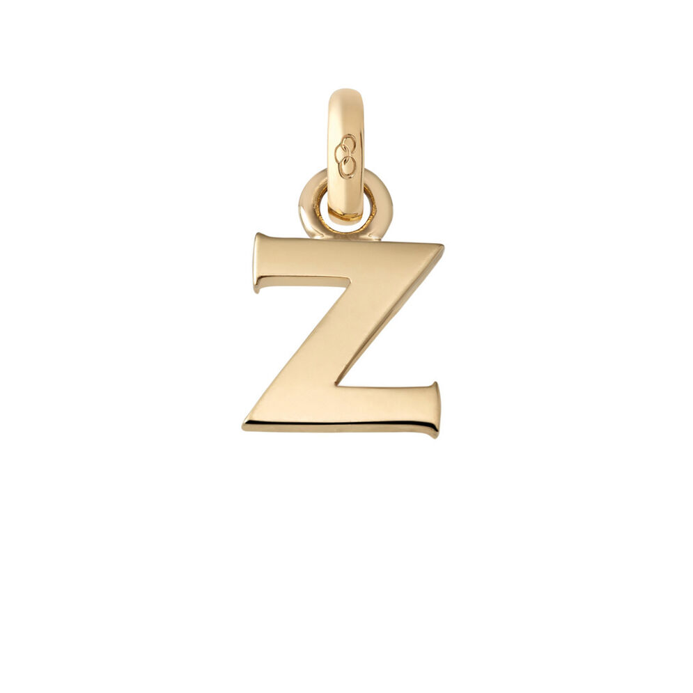 18kt Yellow Gold Z Charm, , hires
