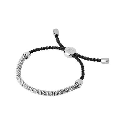 Effervescence XS Sterling Silver & Grey Cord Bracelet, , hires