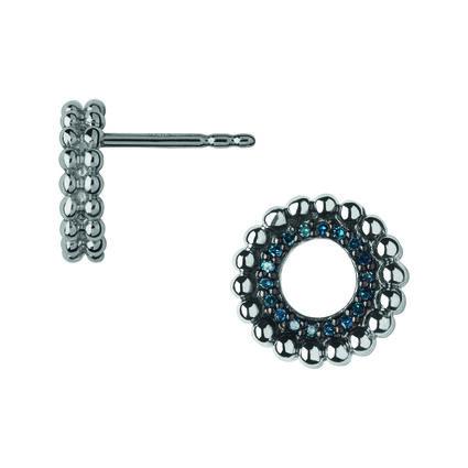 Effervescence Sterling Silver & Blue Diamond Stud Earrings, , hires