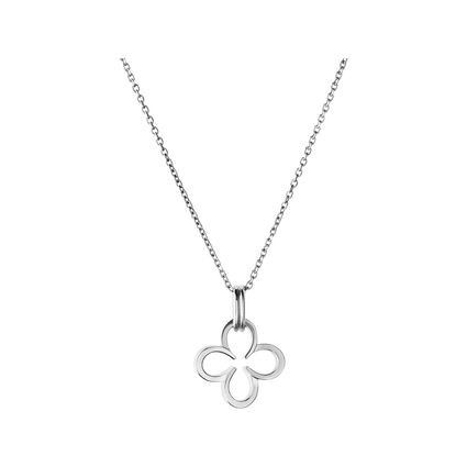 Ascot Sterling Silver Clover Necklace, , hires