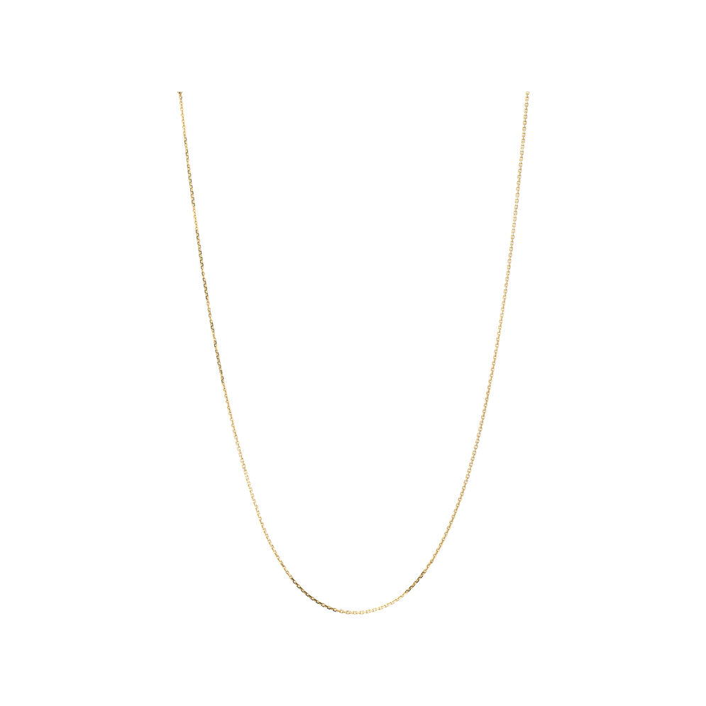 Essentials 18kt Yellow Gold 1mm Cable Chain 50cm, , hires
