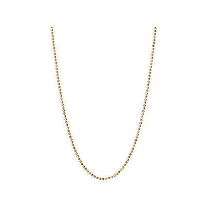 Facetted Gold Ball Chain 41, 45cm, , hires
