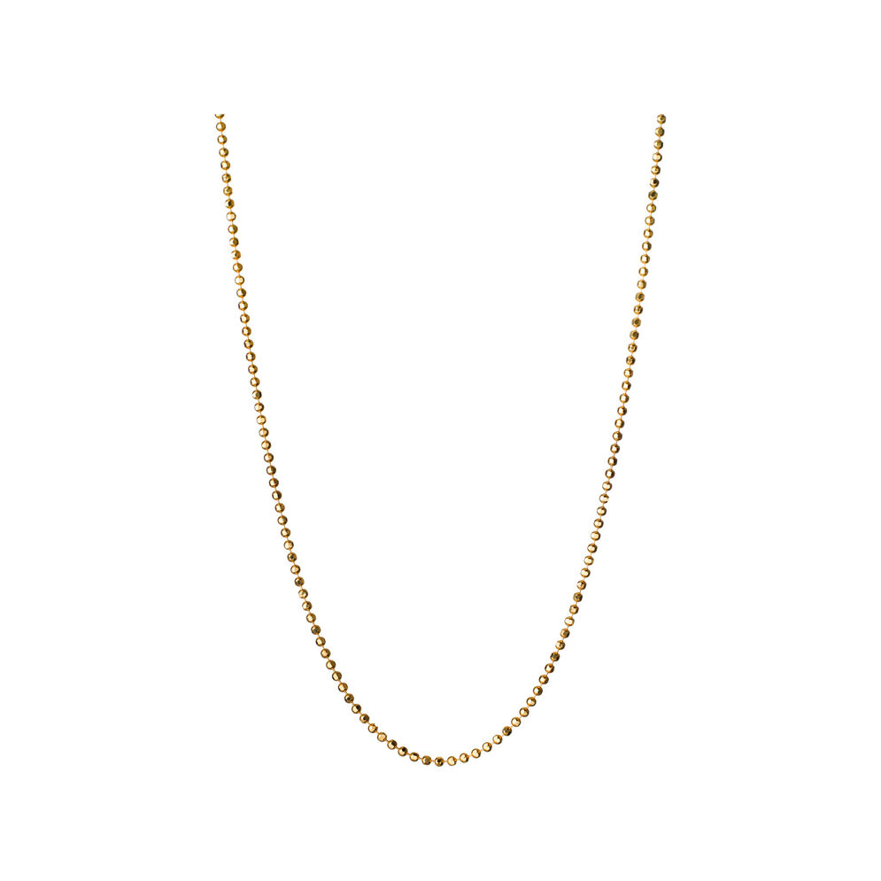 Essentials 18ct Yellow Gold 1mm Ball Chain, , hires