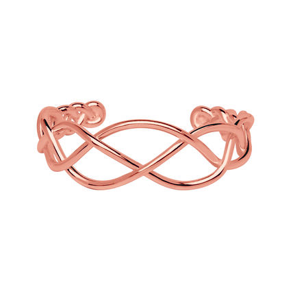 18K Rose Gold Vermeil Woven Cuff, , hires